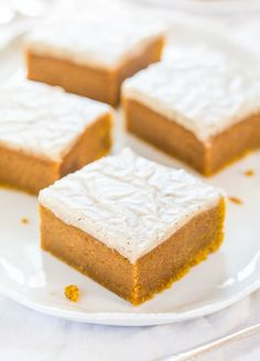 They're like brownies that have been pumpkin-fied. Get the recipe from Averie Cooks.   - Delish.com