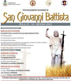 FESTEGGIAMENTI IN ONORE DI S.GIOVANNI BATTISTA – PULA -23-24 GIUGNO 2015