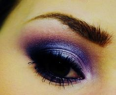 Purple Smokey Eye... not sure I could pull this off though