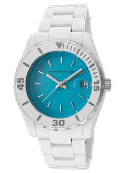 Kenneth Jay Lane 3005 Watches,Women's 3000 Ceramic Series Turquoise Dial, Women's Kenneth Jay Lane Quartz Watches