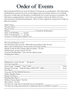wedding dj checklist music memories dj service wedding planner worksheet yes no yes march. Black Bedroom Furniture Sets. Home Design Ideas