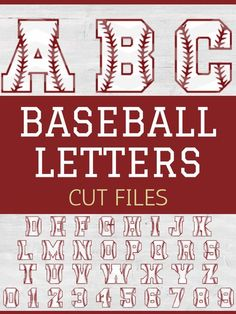 These baseball/softball letter cut files are great for banners, signs, or cute sports crafts for the kids. Baseball Letters, Baseball Signs, Sports Signs, Baseball Birthday, Baseball Party, Baseball Mom, Baseball Stuff, Sports Baseball, Cumpleaños Diy
