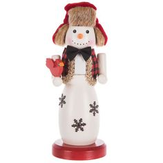 Wood Snowman Nutcracker With Bird Very Merry Christmas, Christmas Crafts, Christmas Ornaments, Christmas Stuff, Christmas Ideas, Diy Projects Videos, Fun Projects, Hobby Lobby Coupon, Wood Snowman