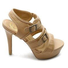 Amazon.com: Ollio Womens Shoes Ankle-Strap Platforms Buckle Accent Multi Colored High Heels Sandals: Shoes