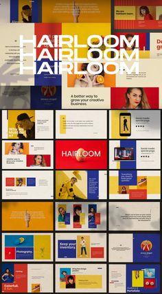 HAIRLOOM - Keynote Business Creative by dirtylinestudio on Envato Elements Presentation Slides Design, Presentation Layout, Slide Design, Web Design, Presentation Templates, Creative Presentation Ideas, Business Presentation, Powerpoint Design Templates, Booklet Design