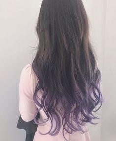 Hair Dye Colors, Ombre Hair Color, Cool Hair Color, Diy Hair Dye, Dye My Hair, Dip Dye Hair Brunette, Hair Streaks, Hair Highlights, Front Hair Styles