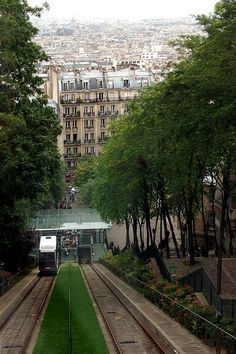 Funiculaire in Montmartre, Paris ~ This is probably the steepest funiculare I have ever ridden! ~dd