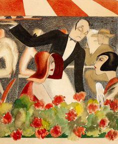 (Detail from) Wedding auf dem Dachgarten, 1929 by Dodo / Dörte Clara Wolff (German 1907-1998)