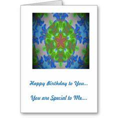 Birthday Card Blue Kaleidoscope Design  http://www.zazzle.com/birthday_card_blue_kaleidoscope_design-137633908906192589