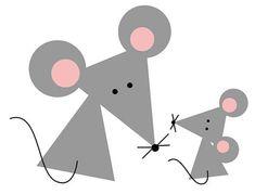 Мышка из геометрических фигур