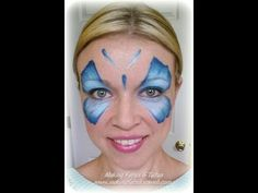 ▶ Easy, fast one stroke butterfly face painting - YouTube