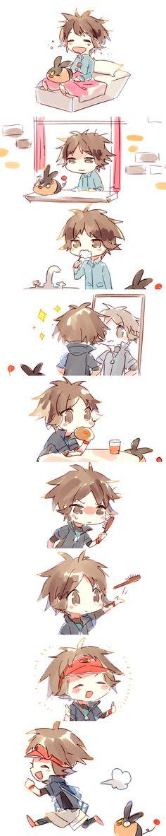 Namie-kun, Pokémon, Kyouhei, Tepig, Toothbrushing, Sleepy