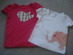 So cute! Appliqued shirts!