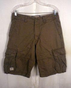 euc Levis olive Twill Cargo Shorts authentics signature SZ 32 #Levis #Cargo