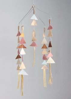 The Leather Triangle Mobile in Fiona