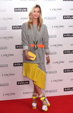 Laura Whitmore At The InStyle BAFTA EE Rising Star Party 2015 In Fyodor Golan