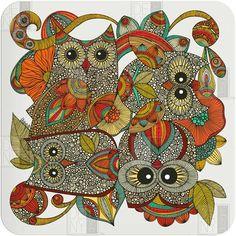 Valentina Ramos 4 Owls Wall Art
