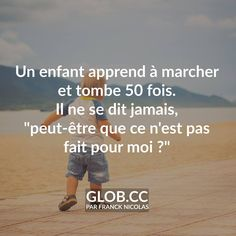 Franck Nicolas Sad Quotes, Daily Quotes, Best Quotes, Inspirational Quotes, Positive Attitude, Positive Thoughts, Positive Quotes, French Words, French Quotes