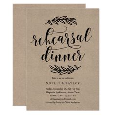 #country - #Rustic Rehearsal Dinner Invitation