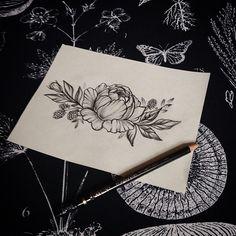 #VSCOcam#эскизтату #татуспб #татупитер #sketch #sketchtattoo #sketchflowers #peonytattoo #flowertattoo #flowers #bw #dotwork
