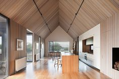 Kitchen at Seaview House, Vic, Australia by JacksonClementsBurrows Pty Ltd Architects