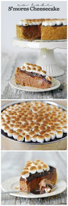 No Bake S'mores Cheesecake is perfect for summer! #smores #cheesecakeday