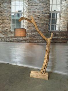 Lampadaire lampe à arc de branche de chêne par GBHNatureArt sur Etsy