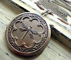 Vintage Dragonfly Locket - victorian style silver coloured vintage locket necklace. $26.90, via Etsy.