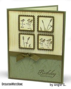 60 best Stampin Up Wetlands Cards . Masculine Birthday Cards, Birthday Cards For Men, Handmade Birthday Cards, Masculine Cards, Male Birthday, Hand Made Greeting Cards, Making Greeting Cards, Greeting Cards Handmade, Inchies