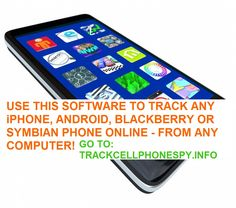 Cellphone tracking software lets you track all cell phone activity! Works on iphones, android phones, windows phones, and symbian phones. ALSO WORKS ON iPads!