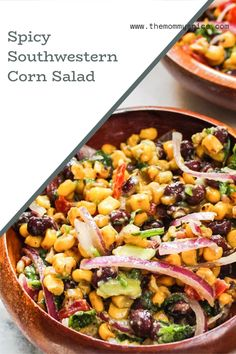 My little twist on Cowboy Caviar! Add it to your next tex-mex meal and let me know what you think! #cornsalad #cowboycaviar Top Recipes, World Recipes, Mexican Food Recipes, Dinner Recipes, Healthy Recipes, Easy Weeknight Meals, Easy Meals, Cowboy Caviar, Good Food