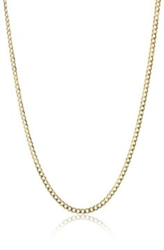 """14k Yellow Gold 2.6mm Cuban Chain Necklace, 24"""" Amazon Curated Collection,http://www.amazon.com/dp/B000VHW3NY/ref=cm_sw_r_pi_dp_chtAtb090152Q6TW"""