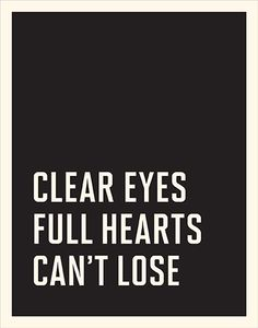 Clear Eyes / A Vintage Poster