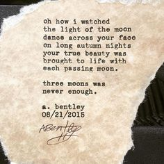 """Moon Dance."" Sometimes it can be a good thing to... 