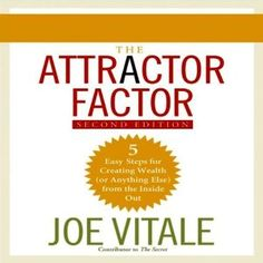 Business Books: Best Books for Entrepreneurs. The Attractor Factor by Joe Vitale. A fantastic read for building wealth and attracting anything you want in life!  #businessbooks #personaldevelopmentbooks #mindsetbooks #selfhelpbooks