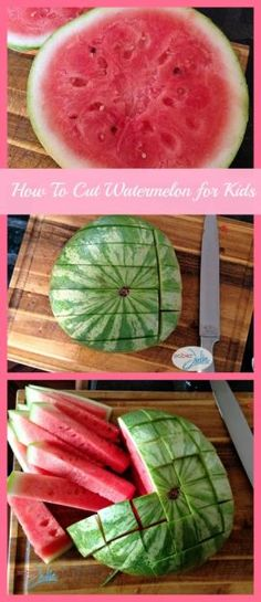 How to cut watermelon for kids collage