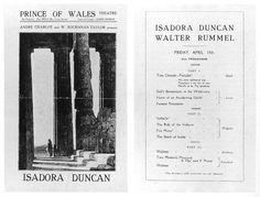 Isadora Duncan. Walter Rummel http://isadoraduncan.orchesis-portal.org/images/Printed_Material/LifeIntoArt143small.jpg