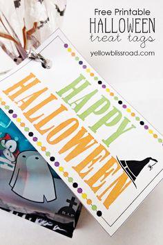 10 Fun & Free Halloween Printables. Treat bag printables #halloween #free #printables