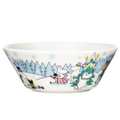 "Seasonal Moomin bowl ""Under the tree""."
