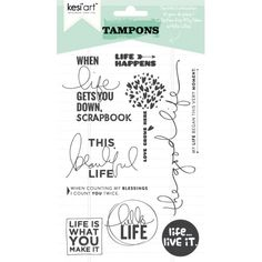 Hello Life - Clear Stamps Set