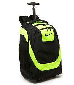 nike rolling backpack yellow