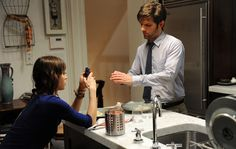 Lizzy Caplan and Adam Scott as Gena and Clyde in Bachelorette