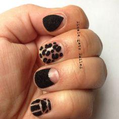 Black Flocking Powder from the Born Pretty Store #nails #nailart #flockingpowder