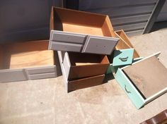 I have several old drawers from broken or ugly pieces of furniture. I decided to save the drawers and just throw out the rest of the furniture pieces. At the ti…