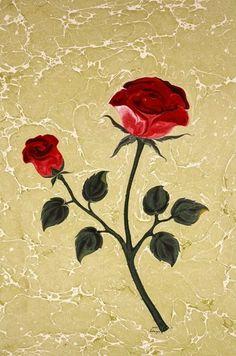 Ebru Art, Water Marbling, Beautiful Rose Flowers, Turkish Art, Marble Art, Mosaic Art, Art Google, Flower Designs, Design Art