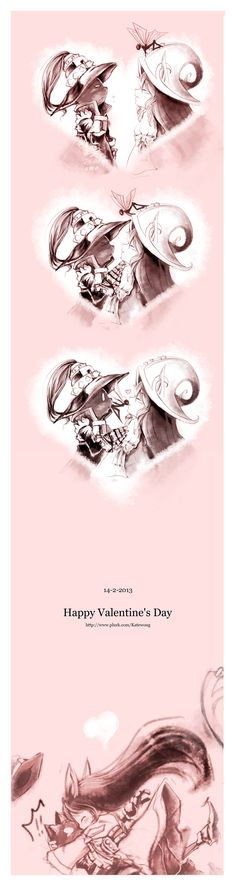 Valentine's Day by wongkaoru Creditos al autor: http://wongkaoru.deviantart.com/art/Valentine-s-Day-354164191