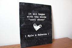 This is super cute - First Words - maybe 1st anniversary gift?