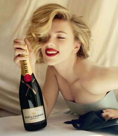 Thank goodness for the 21st amendment, for Scarlett Johansson would not have been paid to pose with a $100 bottle of Champagne.