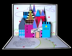 Castle pop up card - I am using the same basic box pop-up form for my Christmas card this year.