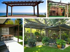 The pergola kits are the easiest and quickest way to build a garden pergola. There are lots of do it yourself pergola kits available to you so that anyone could easily put them together to construct a new structure at their backyard. Small Pergola, Outdoor Pergola, Wooden Pergola, Backyard Pergola, Pergola Plans, Pergola Kits, Backyard Landscaping, Pergola Ideas, Outdoor Swings